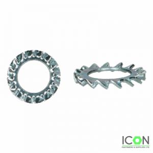 serrated lock washer zinc