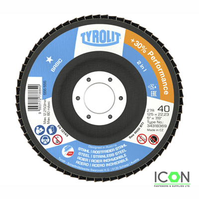 Pack of 10/Abrasive Flap Discs Grit: 60 115 mm Stainless Steel Abrasive Mop Disc